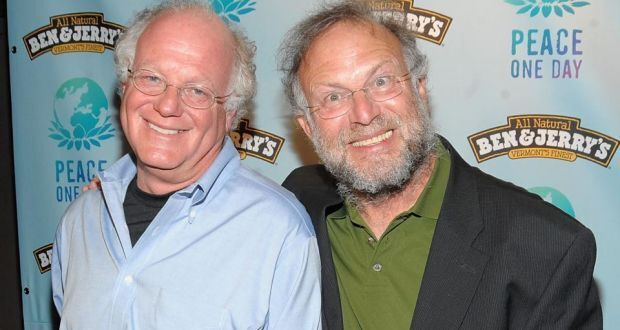 The founders of Ben & Jerrys, Bennett Cohen and Jerry Greenfield