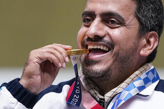 Iranian sharp shootier Javad Foroughi wins gold in Tokyo Summer Olympics