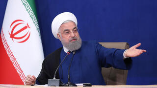 Outgoing Iranian President Hassan Rouhani speaking in his final cabinet meeting on Sunday in Tehran