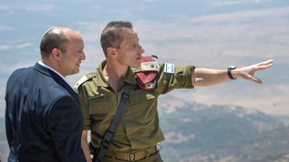 Prime Minister Naftali Bennett and head of the IDF northern command Maj.-Gen. Amir Baram during a tour of the northern frontier on Tuesday