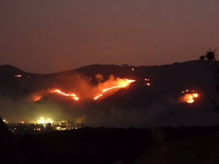 Fire that broke out in southern Lebanon as a result of IDF artillery fire