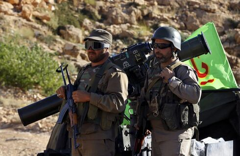 Hezbollah fighters in South Lebanon in 2019