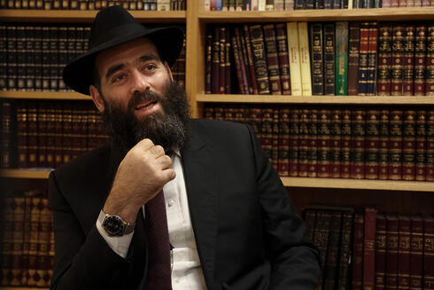 The chief rabbi of Cyprus, Arie Zeev Raskin, speaks during an interview at a synagogue in the Cypriot port city of Larnaca on July 26, 2021