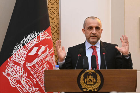 Vice President of Afghanistan Amrullah Saleh speaks during a function at the Afghan presidential palace in Kabul on August 4, 2021