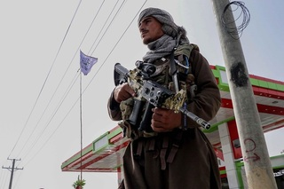 A Taliban fighter in Kabul