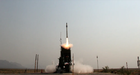U.S. Army Iron Dome Defense System Battery live-fire test at the White Sands New Mexico test range