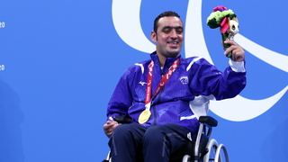 Iyad Shalabi with his second gold medal