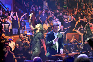 Heavy metal band Orphaned Land performs with Israel Chamber Opera Orchestra in Tel Aviv
