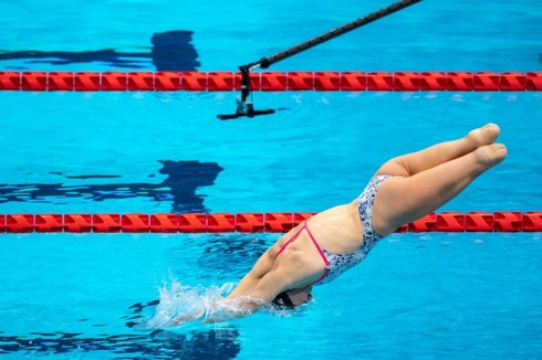 U.S. paralympic swimmer Jessica Long
