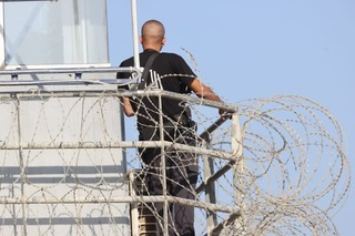 Guard watching over Gilboa Prison after six Palestinian security prisoners escape