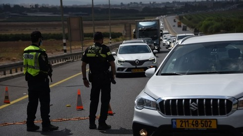 Road blocks set up by police on Tuesday during searches for prisoners who escaped from the Gilboa maximum