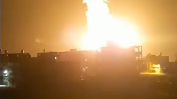 Israel strikes Hamas targets in Khan Yunis in the Gaza Strip late on Monday