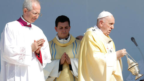Pope Francis leads a mass in Heroes' Square, in Budapest, Hungary, September 12, 2021
