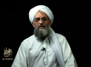 Frame grab from video showing al-Qaeda leader Ayman al-Zawahri at an unknown location, in a videotape issued Saturday, Sept. 2, 2006