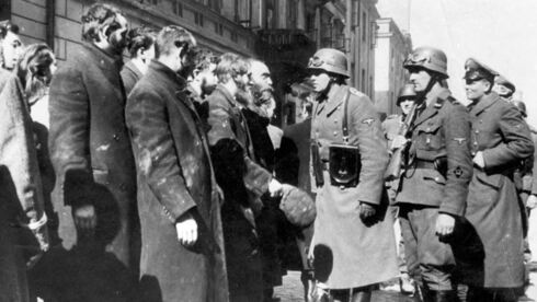 German troops leading a group of Jews after the Warsaw Ghetto uprising