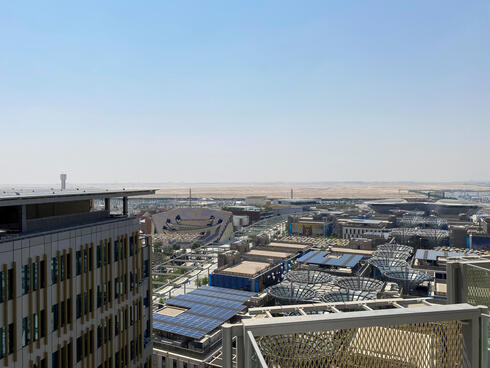 A general view shows the Expo 2020 Dubai site