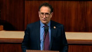 Rep. Andy Levin, D-Mich., speaks as the House of Representative