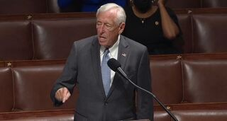 House majority speaker Steny Hoyer speaking in congress ahead of the vote on funding the Iron Dome missile Defense system on Thursday