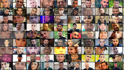 100 people who were killed in the Arab sector since start of this year