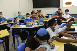 A class in a school in the Shafir Regional Council in southern Israel