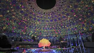 Artists perform during the opening ceremony of the Dubai Expo 2020 in Dubai, United Arab Emirates