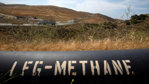 A pipeline that moves methane gas from the Frank R. Bowerman landfill to an onsite power plant is shown in Irvine, California, California, U.S.