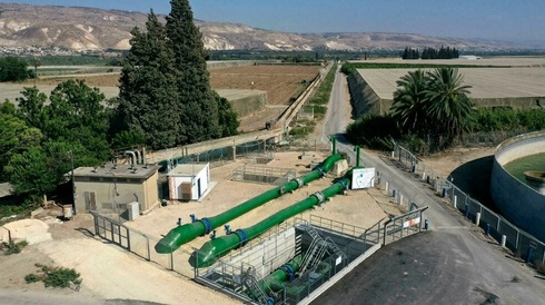 Pipe system used to transfer water from Israel to Jordan