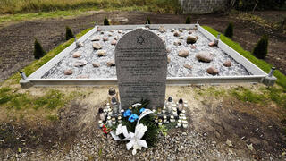 Tribute to some 60 Jews executed during the Holocaust at a new memorial dedicated in Wojslawice