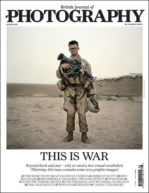 British Journal of Photography, August 2014. Cover photo by Adam Ferguson